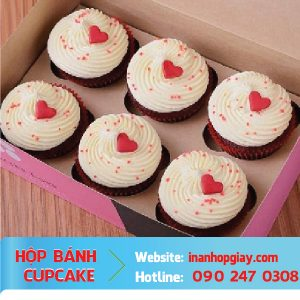 in hộp bánh cup cake