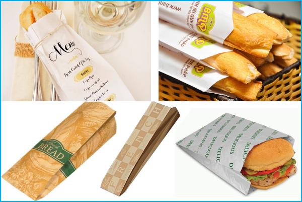 Túi giấy đáy dẹt đựng bánh mì hiệu quả