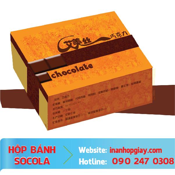 in hộp đựng socola