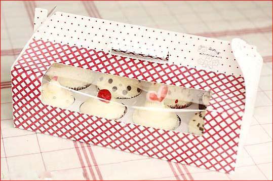 In hộp giấy đựng bánh kem giấy Duplex