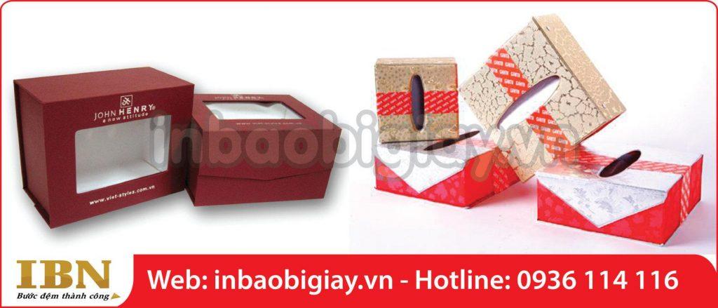 in hộp giấy đựng quà bằng carton