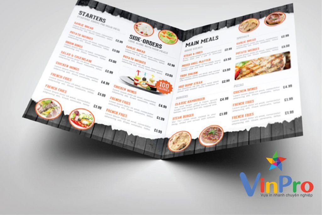 in menu nhanh